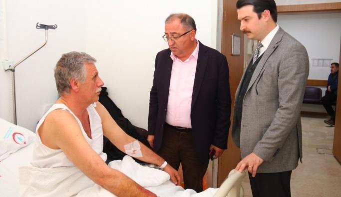 Salman, İlyas Özdemir'e geçmiş olsun ziyaretinde bulundu