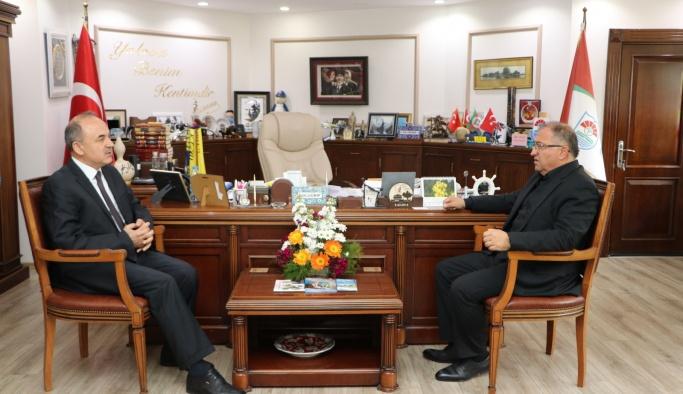 Vali Erol'dan Başkan Salman'a ziyaret
