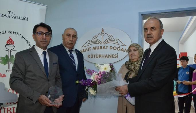 Şehit Murat Doğan Kütüphanesi açıldı
