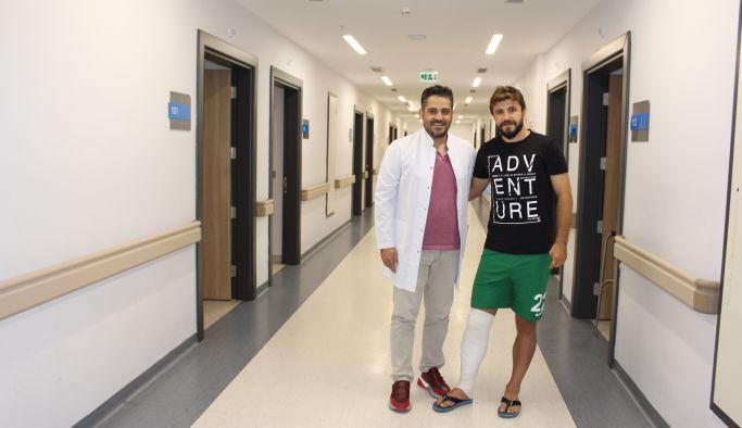 Yalovaspor'lu futbolcu Atakent'te ameliyat edildi
