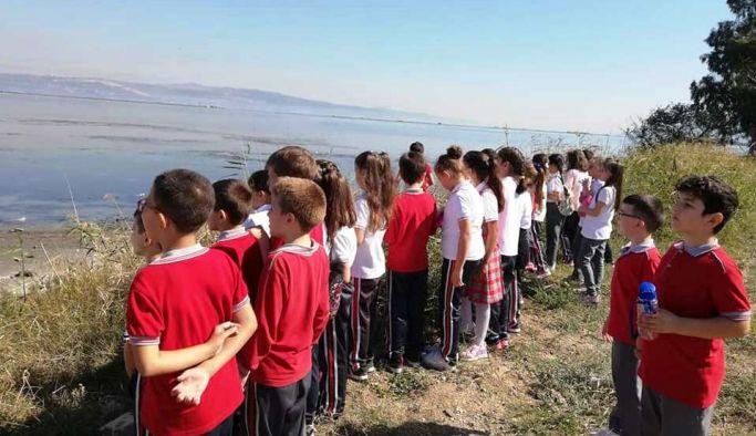 Öğrencilerden lagün ziyareti