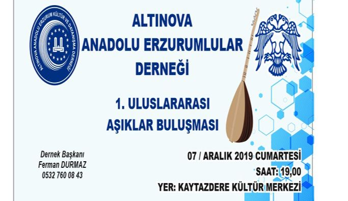 Altınova, 1. Uluslararası Aşıklar Gecesine ev sahipliği yapacak
