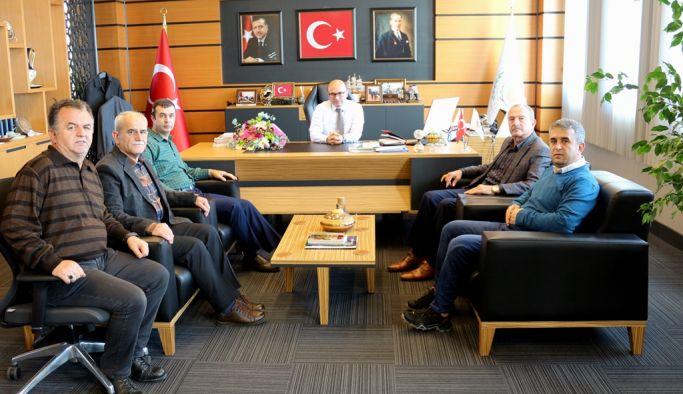 Başkan Oral'a özel misafirler