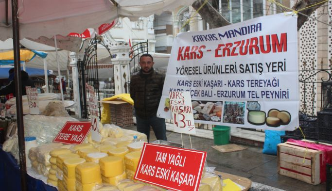 Kafkas Mandıranın yöresel ürünleri Çınarcık Pazarı'nda…