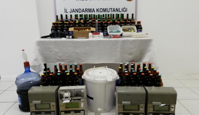 Jandarma'dan sahte içki operasyonu