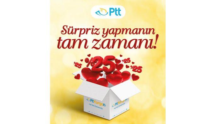 PTT'den Sevgililer Gününe Özel Kargo Kampanyası