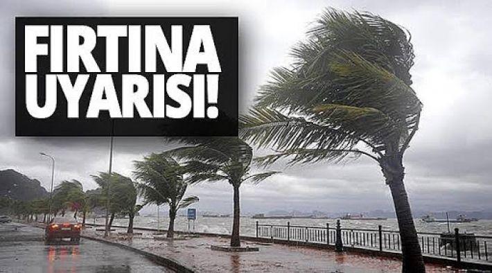 Yalova'ya fırtına uyarısı!
