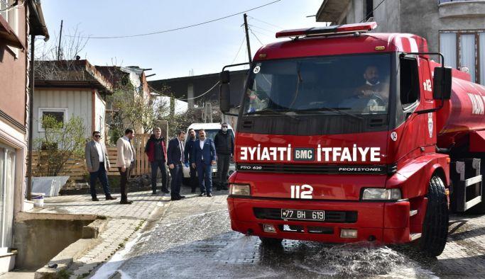 Tutuk'un talimatıyla Seyrantepe Mahallesi dezenfekte edildi