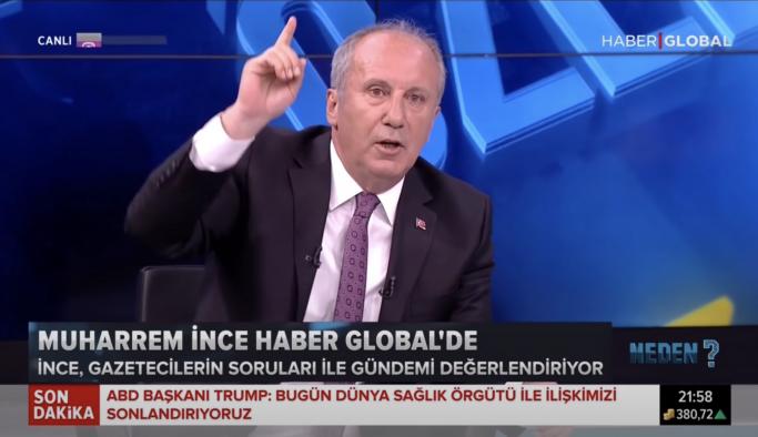 """İnce yayını terk etti, """"Türkiye Cumhuriyeti Erdoğan'ın babasının malı değil"""""""