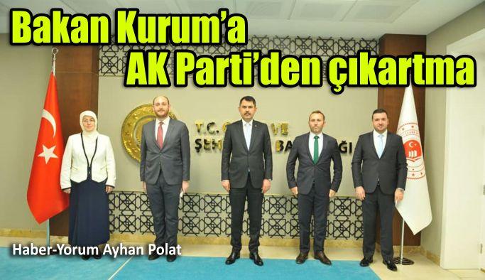Bakan Kurum'a AK Parti'den çıkartma