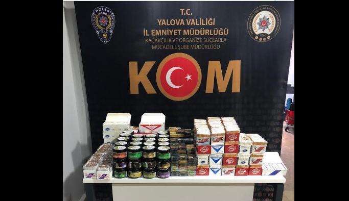 Kaçak içki ve sigara satıcıları yakalandı