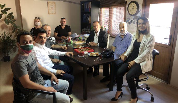 MHP İl Yöneticilerinden gazetemize ziyaret