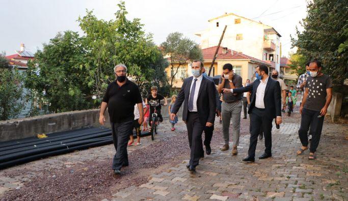 Tutuk, Bayraktepe Mahallesi'nde incelemelerde bulundu