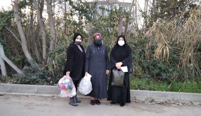 AK Kadınlardan yardım eli