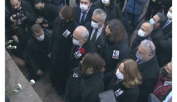 Kılıçdaroğlu, Uğur Mumcu'yu anma törenine katıldı