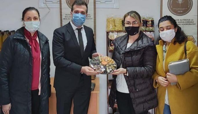 Arif Laçin kadın kooperatiflerini ziyaret etti