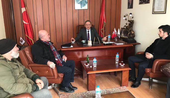Ahmet Özsümer'e, Genel Merkez ziyareti