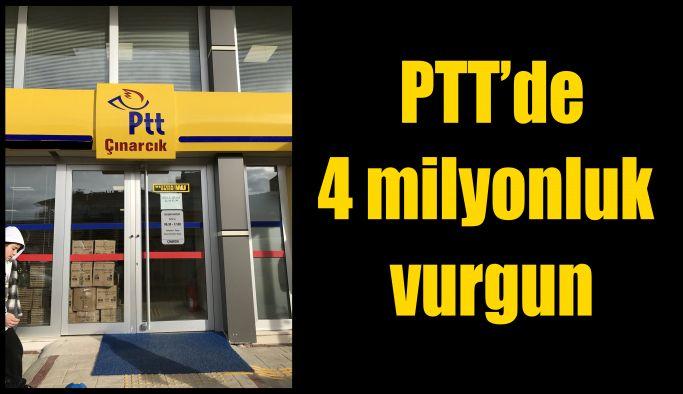 Çınarcık PTT Şubesi dolandırıcısı tutuklandı