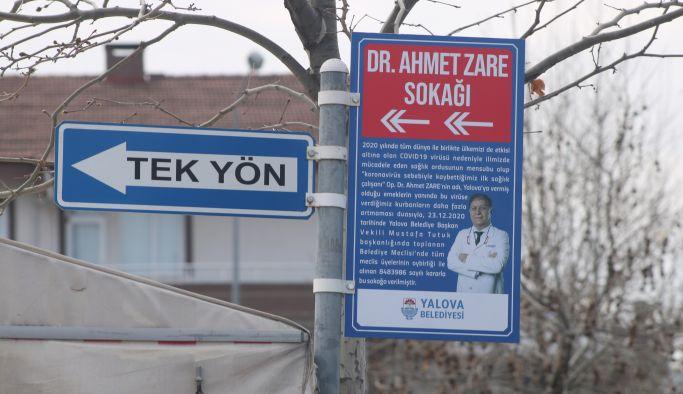Dr. Ahmet Zare Sokağı açıldı