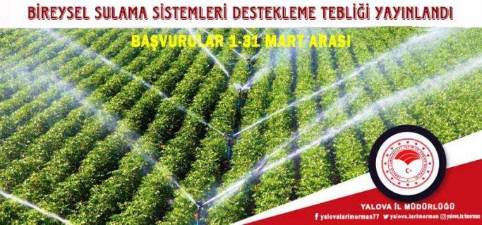 Tarım ve Orman Bakanlığı'ndan sulama sistemleri hibe destek tebliği