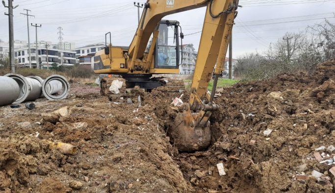 Belediyeden, Safran yoluna kanal çalışması