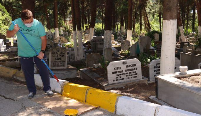 Mezarlıklar ihmal edilmiyor