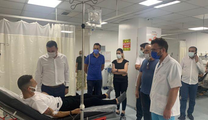 AK Parti, BBP ile birlikte sağlık kurumlarını ziyaret etti