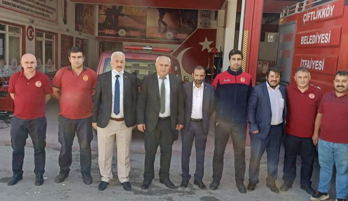 MHP, Çiftlikköy İtfaiyesini ziyaret etti