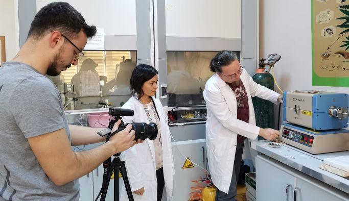 Yalova Üniversitesinde, TRT Belgesel çekimi yapılıyor