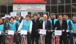 Dünya Böbrek Günü'ne bisiklet turu ile dikkat çektiler