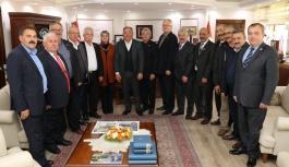 Muhtarlardan Salman'a tebrik ziyareti
