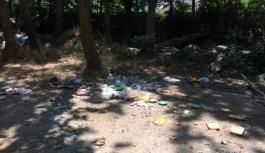 Esenköy'de ki şelale alanının kirletilmesi 'PES' dedirtti