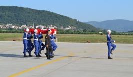 Şehit asker tören ile karşılandı