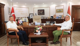 Başkan Salman konuklarını ağırladı