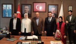 Bakan Çavuşoğlu'ndan AK Parti'ye ziyaret