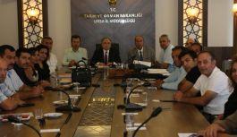 Proje liderleri toplantıda buluştu.