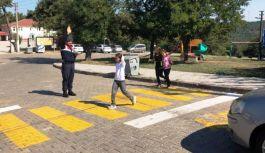 Altınova'da yaya güvenliği nöbeti!
