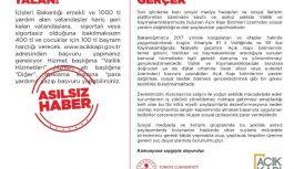 İçişleri Bakanlığı vatandaşları, yalan haberlere karşı uyardı