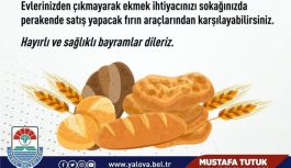 Ekmek satışı yapacak fırınların numaraları paylaşıldı