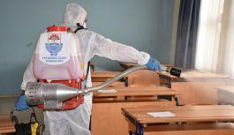 LGS öncesi bütün okullar dezenfekte edildi