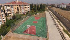 Basketbol sahalarının bakımları yapıldı