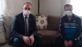 Erol'dan gazeteci Faruk Kırtay'a geçmiş olsun ziyareti