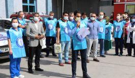 Sağlık-Sen Devlet Hastanesi önünde toplandı