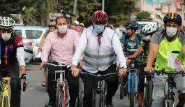 Tutuk, bisikletlilerle pedalladı