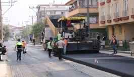Girne Caddesinde asfaltlama çalışmaları başladı