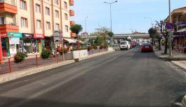 Şehit Ömer Faydalı Caddesine 3800 ton asfalt döküldü