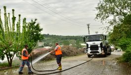 Mahalle temizliğine devam