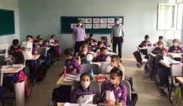Başkan Kangal öğrencilerin heyecanını paylaştı