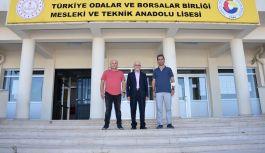Mehmet Şahin TOBB Lisesini ziyaret etti