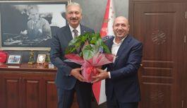 Başkan Durmaz, Emniyet Müdürü Topaloğlu'nu ziyaret etti